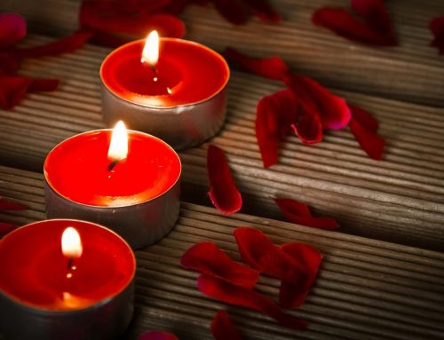 Kerze mit 3 Dochten